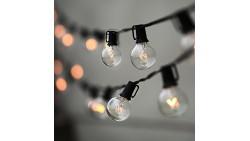Lampat String Lights, Vintage Backyard Patio Lights with 25 Clear Globe Bulbs-UL listed for Indoor/Outdoor Use, Globe Wedding Li