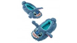Disney Store Stitch Plush Slippers for Kids, Size 11/12