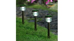 MAGGIFT 12 Pcs Solar Pathway Lights Outdoor Soalr Garden Lights Solar Lights Outdoor for Lawn, Patio, Yard, Walkway