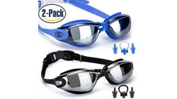 GAOGE Swim Goggles , Swimming Goggles,Pack of 2, Swim Goggles for Adult Men Women Youth Kids Child, Anti Fog UV Protection,with