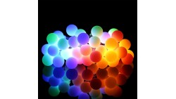 ProGreen Outdoor String Lights, 14.8ft 40 LED Waterproof Ball Lights, 8 Lighting Modes Dimmable Remote Ball, Battery Powered Sta