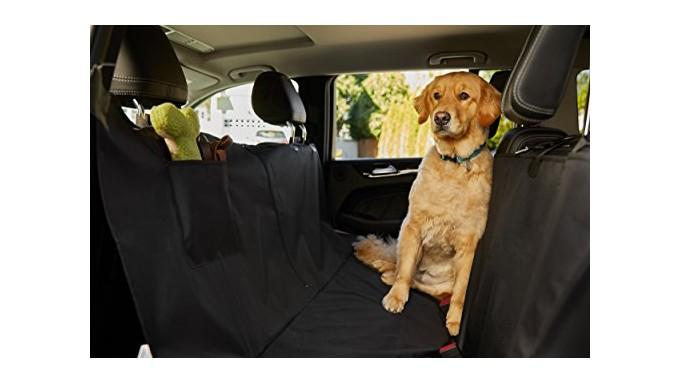 The Original GORILLA GRIP (TM) Non-Slip Pet Car Seat Protector for Pets, Waterproof, Underside Grip (Hammock: Black)