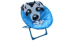 Comfortable Kids Moon Chair for indoor and outdoor Use-Spotty Dog Design chair for kids