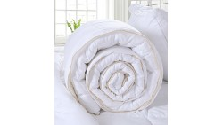 Luxury Queen Size White Down Alternative Quilted Comforter Duvet Insert with Corner Tabs/ Loops for All Seasons - Soft, Hypoller