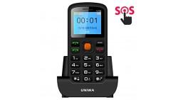 Uniwa Senior Phone, V708 Unlocked Elderly & Kids Cell Phone Old man Mobile Phone Dual SIM Big Button 1.77 Inch Screen Large Digi