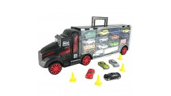 Boley Truck Carrier Toy - Big Rig Hauler Truck with 14 die cast cars and 28 slots for car toys, great toy for boys and girls!