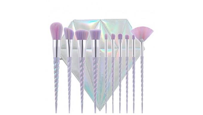 Elephant Xu10pcs Unicorn Makeup Brush Set Professional Foundation Powder Cream Blush Brush Kits