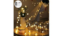 16.4FT 50 Outdoor LED Globe String Light Dimmable with Remote Control Starry String Light 8 Functions Waterproof Battery Operate