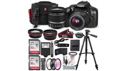 Canon EOS Rebel T6 DSLR Camera with EF-S 18-55mm f/3.5-5.6 IS II Lens, Along with 32 & 16GB SDHC, and Deluxe Accessory Bundle wi
