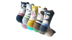 Pack of 5 Sweet Animal Design Women s Casual Comfortable Cotton Crew Socks, Style 1, One Size (5-8.5)