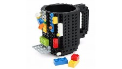Creative DIY Build-on Brick Mug Lego Style Puzzle Mugs, Building Blocks Water Bottle Frozen Coffee Mug, Christmas Gift Toy Mugs
