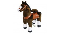PonyCycle Official PonyCycle Ride On Horse No Battery No Electricity Mechanical Horse Chocolate with White Hoof Small for Age 3-