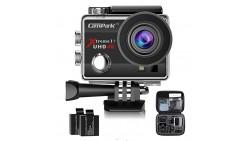 Campark 4 K 30 FPS WiFi Ultra HD Impermeable Sensor Sony, Lapso de tiempo, Slow Motion, 2 baterias Incluidas