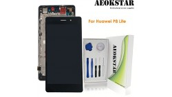 Aeokstar For Huawei P8 Lite LCD Touch Screen Digitizer Glass Assembly Replacement with Frame & Full Repair Tools Kit (BLACK)