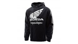 Troy Lee Designs Honda Wing Pullover Hoodie-Black-M