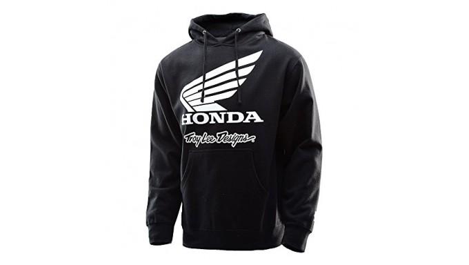 Troy Lee Designs Honda Wing Pullover Hoodie-Black-M