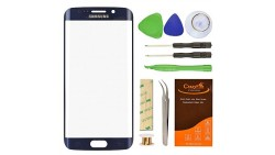 Samsung Galaxy S6 Edge Screen Lens Glass Replacement CrazyFire Kit With Adhesive Tape And Tools Kit For G920 G925A G925P G925T G