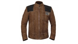 Star Wars Han Solo Jacket - Brown Mens Han Solo Suede Leather Jacket for Mens (Hans Solo Suede Leather Jacket, M)