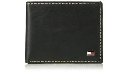 Tommy Hilfiger Mens RFID Blocking 100 Leather Passcase Wallet