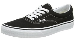 Vans Unisex Era Skate Shoes Classic LowTop Laceup Style in Durable DoubleStitched Canvas and Original Waffle Outsole