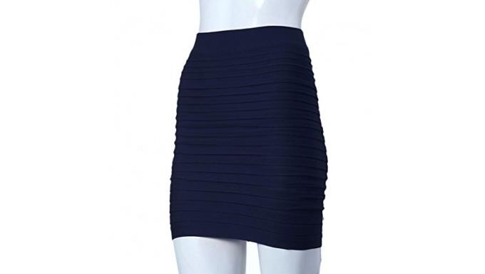 Minifalda Sunward con Pretina Bodycon