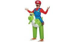 Disfraz de Mario montando a Yoshi
