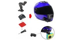 Kit de montaje para casco de motocicleta para GoPro