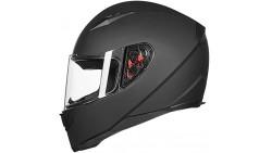 Casco de rostro entero ILM para motocicleta con cuello bufanda extraíble