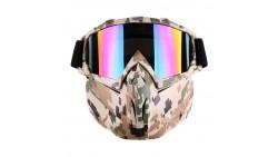 Gafas tácticas con máscara desmontable para airsoft