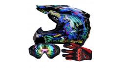Casco, anteojos y guantes Racing Off-Road