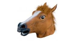 Máscara de cabeza de caballo de látex