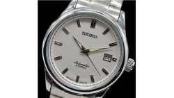 Reloj de pulsera clásico de acero inoxidable para hombres