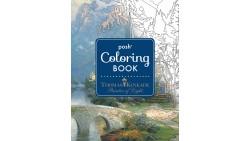 Lápices de colores & 128 Página de Thomas Kinkade libro para colorear.