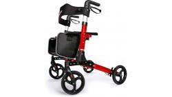 Andadera plegable con asiento ancho, ruedas antideslizantes