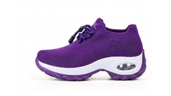 Zapatillas de deporte para mujer con calcetín de malla