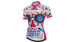 Blusa de ciclismo para mujer.