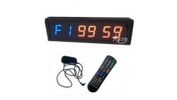 Azoou Cronómetro Reloj de pared LED para fitness Crossfit Gimnasio Boxeo Tabata control remoto