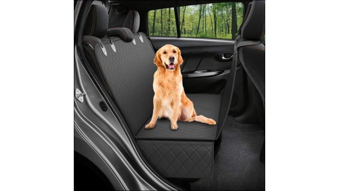 Protector de asiento trasero para perro, impermeable