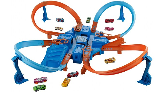 Hot Wheels Set de pista entrecruzada y choques