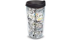 Tervis Warner Brothers - Vaso aislante con tapa negra y envoltura