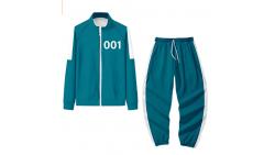 Disfraz Juego del calamar traje Cosplay Chaquetas Unisex Sudadera y Pantalones Halloween