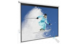 100 4:3 Electric Remote Control Projection Screen HD Movie Theater Matte White