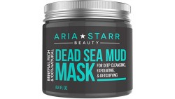 Aria Starr Beauty Dead Sea Mud Mask For Face, Acne, Oily Skin & Blackheads - Best Facial Pore Minimizer, Reducer & Pores Cleanse