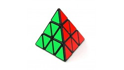 Shengshou Triangle Pyramid Pyraminx Speed Magic Cube Puzzle Twist Toy Game Education, Black