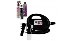 Fascination Spray Tanning Kit Machine Bundle with Norvell Venetian and ONE Spray Tan Solution and XLaTan (Black)
