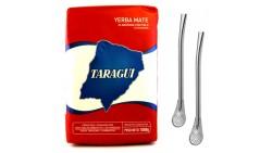Taragui Yerba Mate Regular Blend, with Stems (Con palo) 1.17 lb- 500 g.