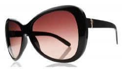 Electric Visual Women s Magenta Butterfly Sunglasses,Gloss Black Frame/Brown Gradient Lens,One Size