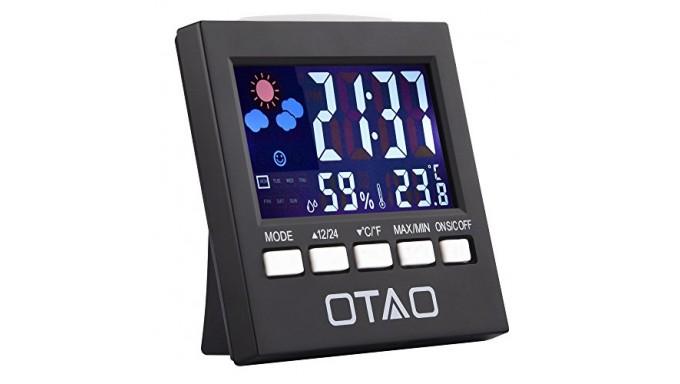 Otao Humidity Meter Color Digital LCD Screen Multifunctional Hygrometer Temperature Humidity Gauge Indoor Humidity Monitor Senso