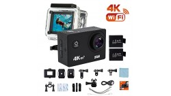 SSA 4K WIFI Sports Action Camera Ultra HD Waterproof DV Camcorder 12MP 170 Degree Wide Angle Include Waterproof Case,2pcs Batter
