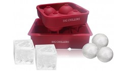 Ice Cube Tray Silicone - BPA Free - Combo Large Square and Sphere Round Silicone Molds Shapes for Whiskey Ice, Cocktails, Bevera
